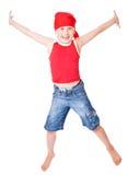 танцулька мальчика немногая Стоковое Фото