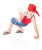 танцулька мальчика немногая Стоковое Изображение
