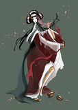 Танцулька молодой гейши Стоковые Изображения RF