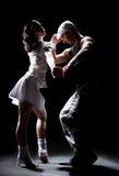 танцулька пар Стоковая Фотография