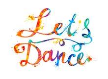 танцулька препятствует Надпись написанная рукой краски выплеска Стоковое Изображение RF