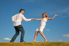 танцульки пар Стоковое Фото