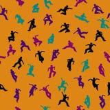 Танцуя безшовная картина Стоковое фото RF