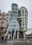 Танцуя дом в Праге, чехе стоковое изображение rf