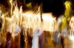 танцуя желтый цвет выходок Стоковое фото RF