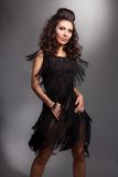 танцуя женщина платья Стоковая Фотография