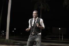 танцуя красивый человек стоковые фотографии rf
