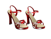 танцуя красные ботинки Стоковое Изображение RF