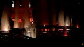 Танцуя музыкальные фонтаны Праг-эпизода 2 сток-видео