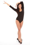 танцуя представление драматической девушки legged длиннее сексуальное Стоковые Изображения RF