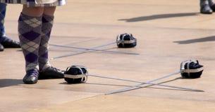 танцуя scottish Стоковая Фотография