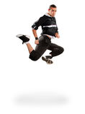 Breakdance танцев подростка в действии Стоковое Изображение RF