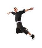 Танцулька пролома танцы подростка в действии стоковая фотография