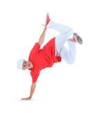 Танцулька пролома танцы подростка в действии стоковая фотография rf