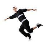 Танцулька пролома танцы подростка в действии стоковое изображение rf