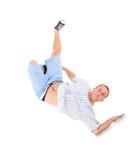 Танцулька пролома танцы подростка в действии стоковое фото