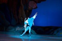 Танцы артистов балета Aleksandr Stoyanov и Katerina Kukhar во время балета Corsar Стоковое Изображение RF