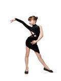 Танцы латыни девушки танцуя Стоковая Фотография RF