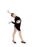 Танцы латыни маленькой девочки танцуя Стоковые Изображения