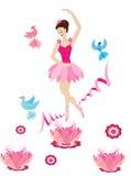 танцы балерины иллюстрация штока