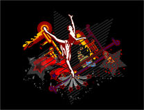 танцы балерины Стоковое Изображение RF