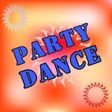 Танцы Визитные карточки, брошюры Время партии - дизайн рогульки или крышки также вектор иллюстрации притяжки corel EPS10 Стоковые Изображения