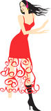 Танцы девушки Стоковые Фотографии RF