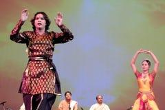 Танцы Индии Стоковые Фото