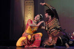 Танцы Индии Стоковое Изображение