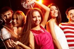 танцы клуба Стоковые Фотографии RF