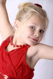 Танцы маленькой девочки Стоковые Фотографии RF