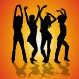 Танцы молодой женщины Стоковые Фотографии RF