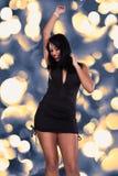 Танцы молодой женщины Стоковые Фото