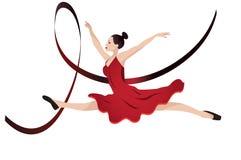 Танцы молодой женщины Стоковое Изображение
