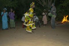 Танцы ночи Стоковое фото RF