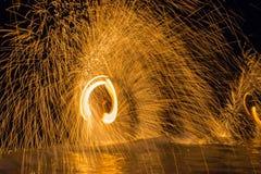 Танцы огня Стоковое фото RF