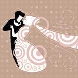Танцы пар свадьбы иллюстрация штока