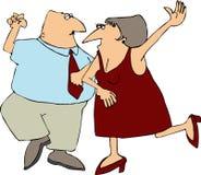 танцы пар Стоковые Изображения