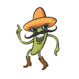 Танцы перца Chili бесплатная иллюстрация