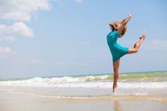 танцы пляжа Стоковая Фотография RF