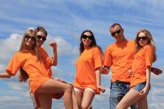 танцы пляжа Стоковые Изображения