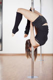Танцы поляка молодой женщины Стоковые Фото