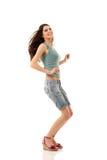 Танцы предназначенной для подростков девушки жизнерадостные Стоковое Изображение RF