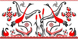 танцы птицы Стоковые Фото