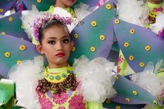 Танцы ребенка в фестивале 2017 Calauan Pinya Стоковые Фото