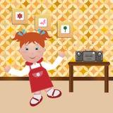 танцы ребенка бесплатная иллюстрация