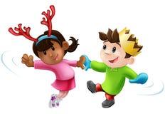 Танцы рождественской вечеринки Стоковая Фотография