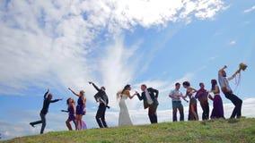 Танцы свадьбы сток-видео