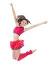 Танцы современного девочка-подростка танцора чирлидера скача Стоковое Изображение RF