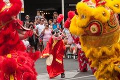 Танцы с львами Стоковое Фото